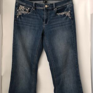 White House Black Market Boot Cut Jeans Size 6R